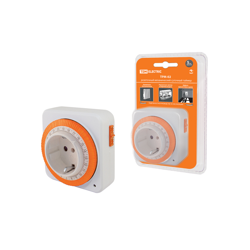 Outlet Timer трм-02-15мин/24ч-16а (daily, Square) TDM Sq1506-0003
