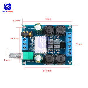 Image 5 - Diymore TPA3116 D2 50Wx2 ثنائي القناة تيار مستمر 4.5 27 فولت مكبر كهربائي رقمي مجلس 2 CH ستيريو عالية الكفاءة عكس الحماية