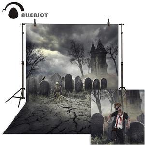 Фотофон Allenjoy для фотостудии, тематический фон для фотосъемки ужаса, скелета, замка, Хэллоуина