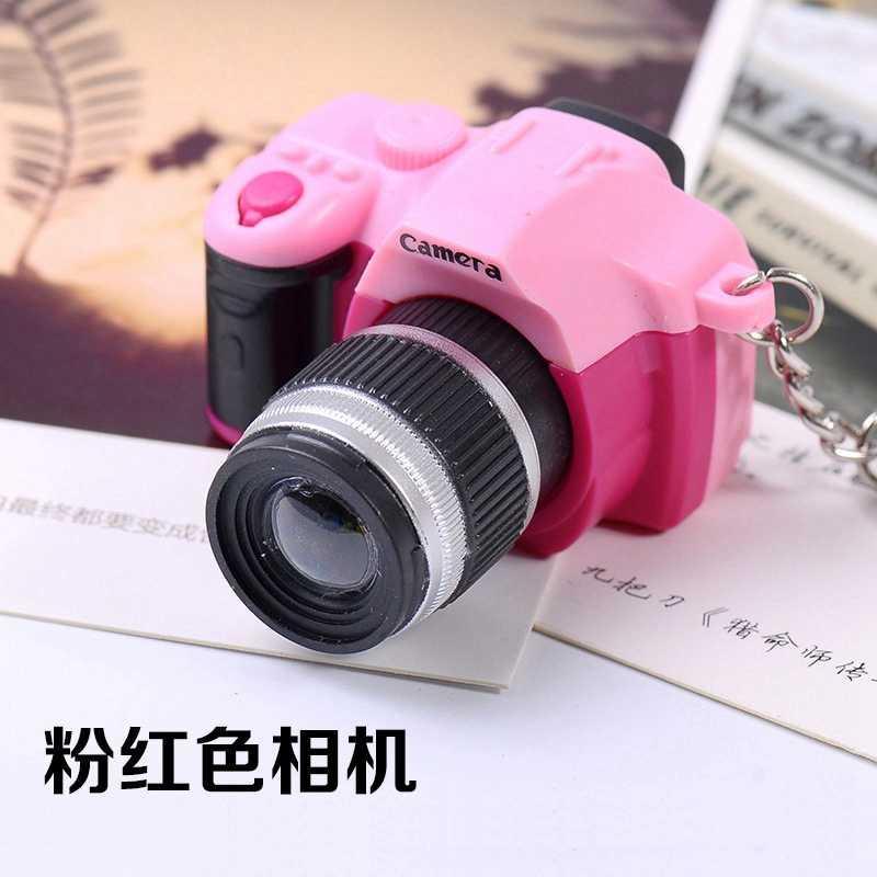 Kamera Mainan Gantungan Kunci Mini SLR Multi Warna Suara Shutter Flash Mini Model 1/16 Ransel Dekorasi Mainan untuk Anak-anak Mainan
