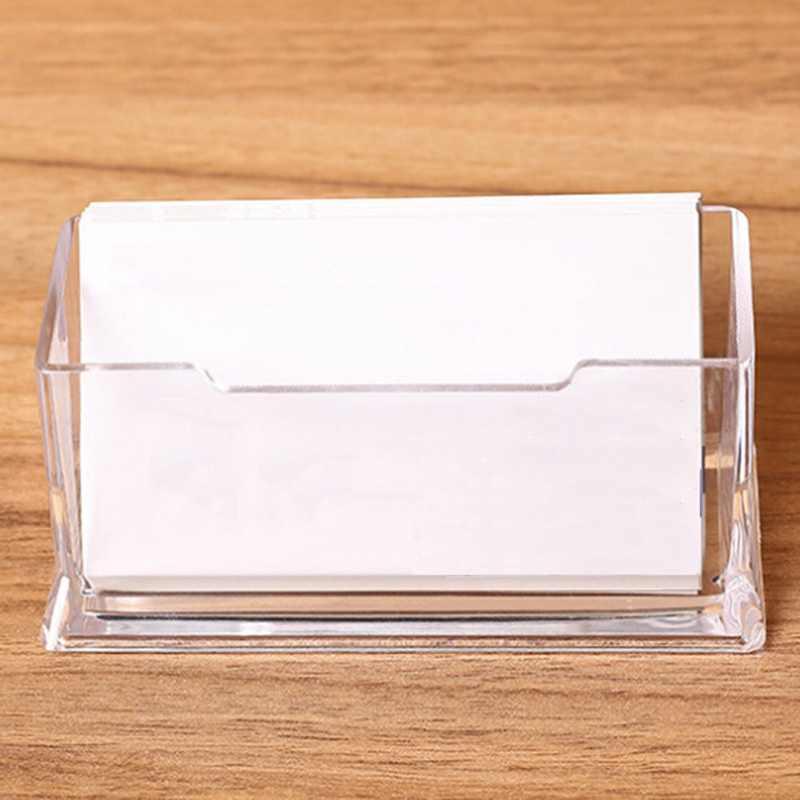 1 шт., прозрачный Настольный держатель для визиток, настольный органайзер для офиса, стойка для дисплея, акриловые канцелярские принадлежности, настольные аксессуары
