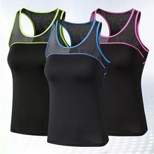 Gym Shirt Women Racerback Tops Running Sleeveless Lady Performance Tops Yoga Top Tank Vest Women Workout Gym Clothing Tops Slim(China)