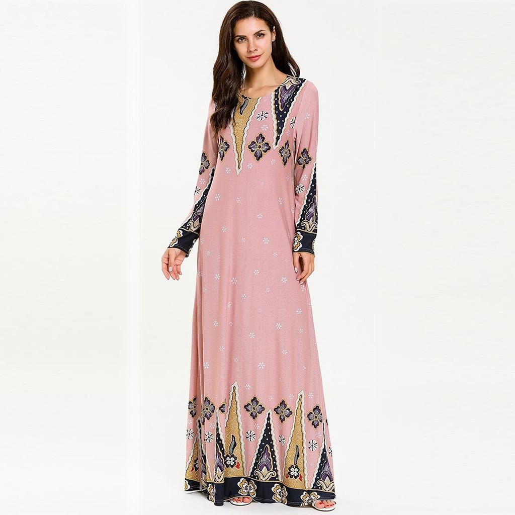Abayas For Women Muslim Long Abaya Beautiful Muslim Dresses Middle Eastern Long Dress Women Robe Islamic Dress W909