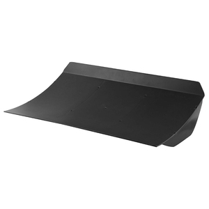 """Image 2 - Universal Spoiler Rear Bumper 4 Fins Curved Diffuser Fin Black ABS Car Rear Bumper Lip Diffuser 22"""" x 12"""" For Dodge"""