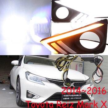 1set 2014 2015 2016y car bumper head light for Toyota Reiz fog light car accessories headlight for Mark X Reiz daytime light