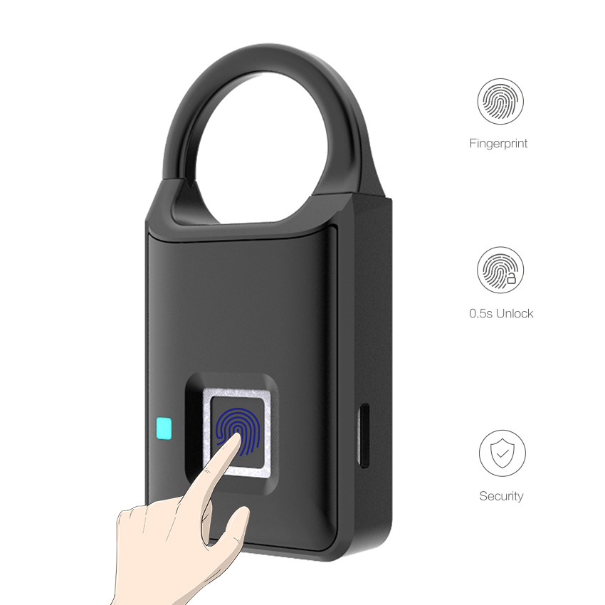 Thumbprint Door Lock Biometric Smart Fingerprint Padlock Home Appliances Smart home