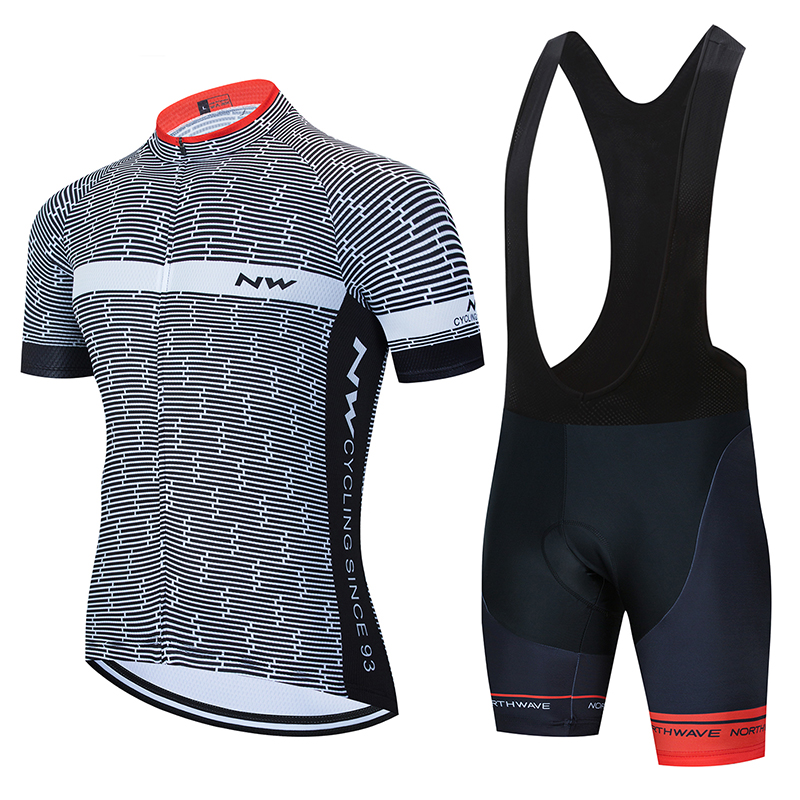 Northwave 2020 NW Summer Cycling Jersey Set Breathable Team Racing Bicycle Jersey Men Cycling Clothing Short Short Sleeve Jersey
