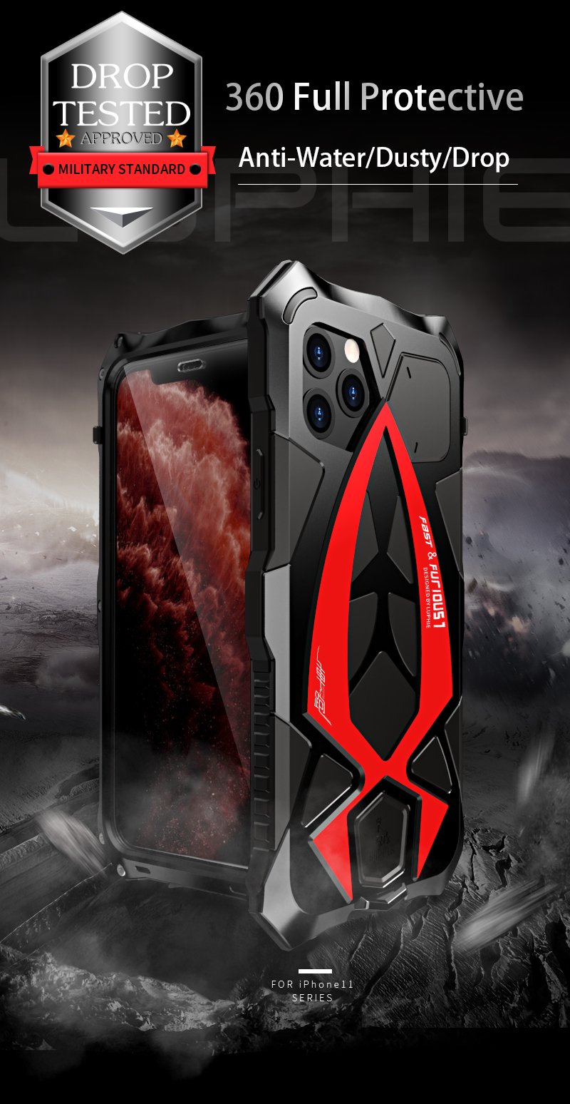 Nature - Best Shockproof Case For iPhone 11 Pro Max, XR, XS MAX, Waterproof Military Grade with Built-in Screen Protector