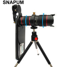 SNAPUM 4K HD מלא מסך תמונה 15X טלסקופ מצלמה זום עדשה עמיד למים Mobilephone טלפון סלולרי טלה עדשות עבור Smartphone