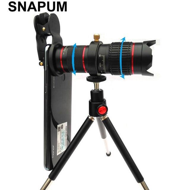 SNAPUM 4K HD Full screen photo 15X Telescope Camera Zoom Lens Waterproof  Mobilephone Cell Phone Telephoto Lenses for Smartphone