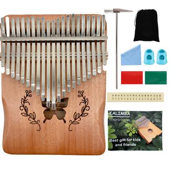 17-klucz Kalimba mahoń kciuk perkusja fortepian palec kciuk wysokiej jakości drewniany Instrument kciuk fortepian tanie i dobre opinie CN (pochodzenie) Beginner Pionowe pianino 59656 Z klonu Wielowarstwowe 500g 11-50 18x13 5cm Thumb piano mahogany 17-tone peach core