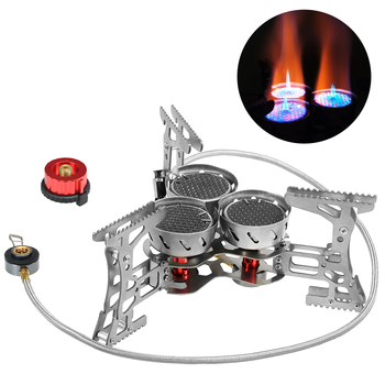 Lixada 8000W Portable Gas Stove Outdoor Windproof Camping Stove Burner For Camping Equipment Hiking Traveling