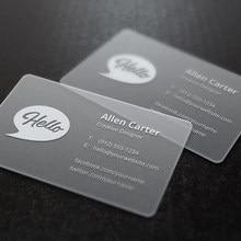 Cartes de visite personnalisées en PVC Transparent, 200 pièces/lot, impression de cartes de visite personnalisées claires/givrées