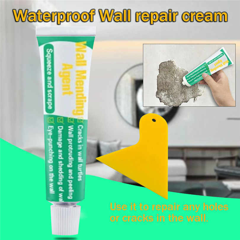 20/100/250 ml Wall Mending Agent Waterproof Wall Repair Cream Wall Crack Nail Repair Agent With scraper quick-drying patch #3D26