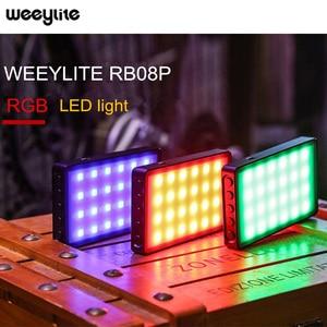 Image 1 - Weeylite RB08 RB08P RGB 2500K 8500K מיני וידאו LED אור מילוי אור מובנה סוללה עבור טלפון מצלמה ירי סטודיו