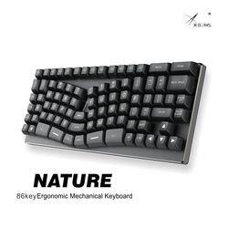 Xbow x-bow природа механическая клавиатура pcb эргономичный оптический переключатель rgb светодиоды Тип c порт Горячая замена переключатель розет...