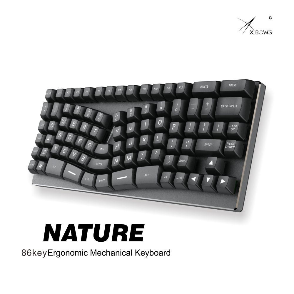 Xbow X-bow Nature Mechanical Keyboard Pcb Ergonomic Optical Switch Rgb Leds Type C Port Hot Swappable Switch Socket