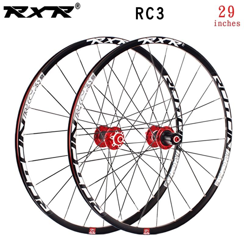 RXR VTT vtt hors route carbone vélo roues 29 pouces RC3 frein à disque 5 roulements 7-11speed à travers essieu/QR roue de vélo