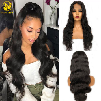 Body Wave 13*6 Lace Front Wig Pre Plucked With Baby Hair Cuticle Aligned Virgin Brazilian Human Hair Wigs