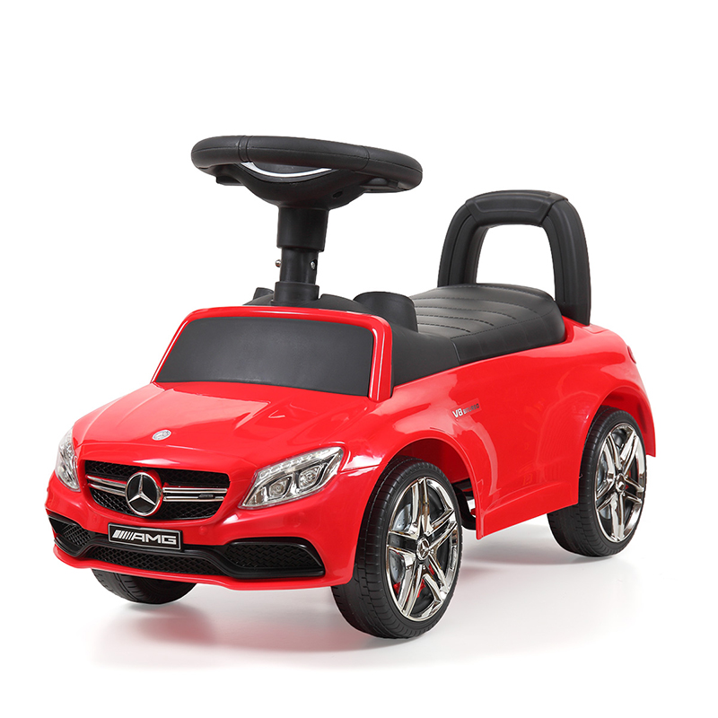 Kids Mercedes Foot-to-Floor Ride-On Push Car Baby Unisex Music Four Wheel Car Toys Funny Outdoor Children Play Toy Gift T0818