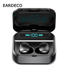 EARDECO 2200mAh Power Bank TWS Bluetooth Earphone 6D Stereo Wireless Earbuds Game Headset with Microphone IPX7