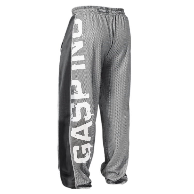 Muscle Brother Gasp Thin Breathable Quick-Drying Trousers Basketball Fitness Sports Training Squat Loose And Plus-sized Sweatpan