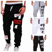 WENYUJH Men Sweatpants Joggers Pant Male Loose Casual Cotton Hip Pop Letter Print Trousers Tracksuit Streetwear Fitness Pants