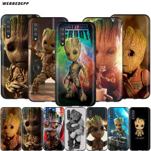 Webbedepp Guardians Groot Marvel Fall für Samsung Galaxy S7 S8 S9 S10 Plus Kante Anmerkung 10 8 9 A10 A20 a30 A40 A50 A60 A70(China)