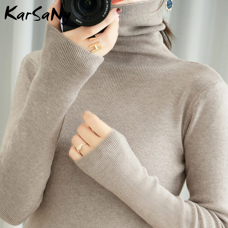 Women's Sweater Winter Clothes Women 2020 Black Turtleneck Sweaters Winter Warm Turtlenecks For Women Pullover Sweater Autumn 9
