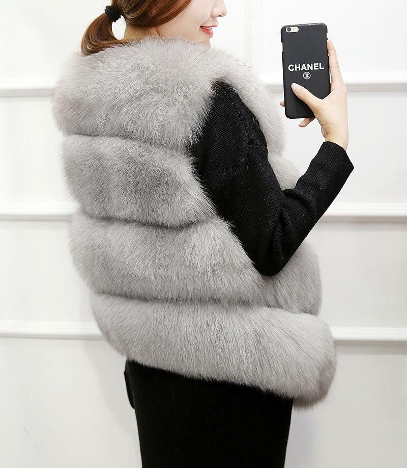New Fashion Faux Fur Coat Winter Coat Women Waist Coat Fur Gilet Women's Fur Jacket Fur Vest For Ladies 17