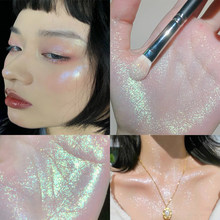 Glitter Highlighter Palette Long Lasting Glow Diamond Face Contour Eyes Brightening MakeUp Pigmented Blusher Matte Powder