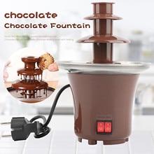 Chocolate Fountain Fondue-Machine Waterfall Hotpot Heating Mini EU with Diy Eu-Plug -Db4