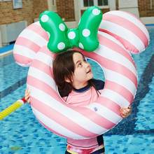 Cartoon Bowknot Style Inflatable Seat Swimming Swim Ring Pool Aid Trainer Beach Float Boat Inflatable Swimming Ring(China)