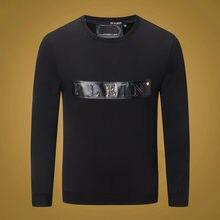 Sweat à capuche à manches longues pour homme, sweat-shirt à motif tête de mort, style hiver, marque complète, 606