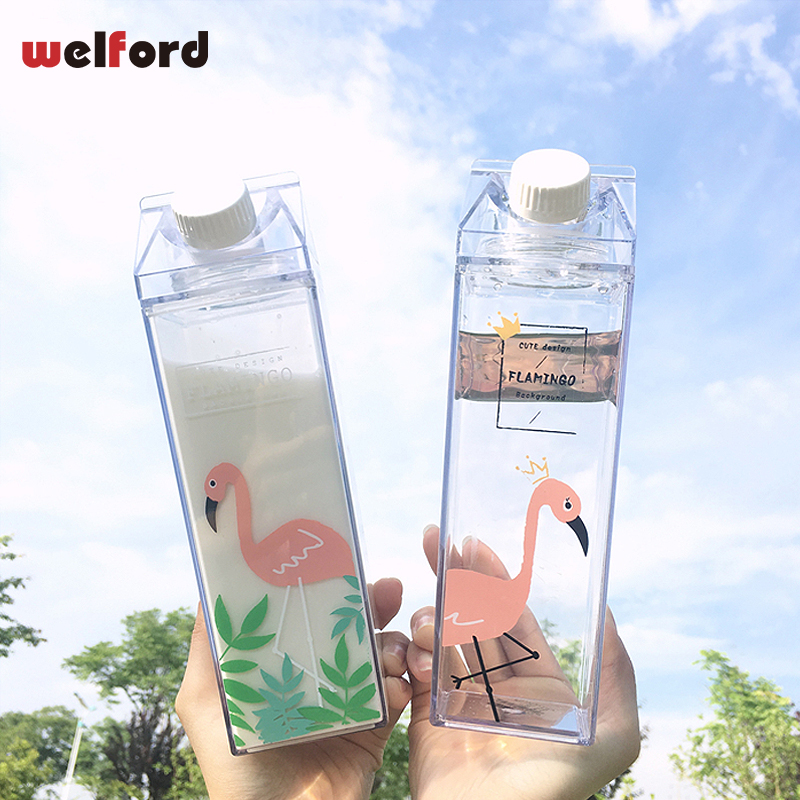 Water Bottle Design Flamingos Milk Mug Milk Mug Box Portable Water Cup  BPA Free Coffee Tea Travel Mugs And Cups