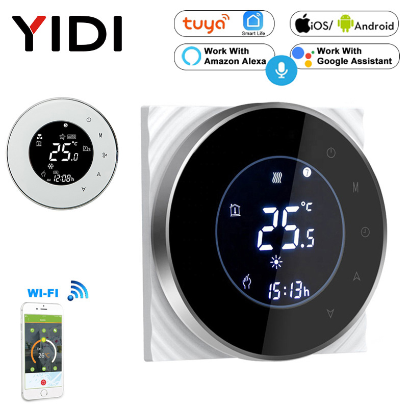 Smart Touch WIFI Thermostat LCD Screen Water Heating Electirc Floor Heating Water Gas Boiler Temperature Controller Google Home