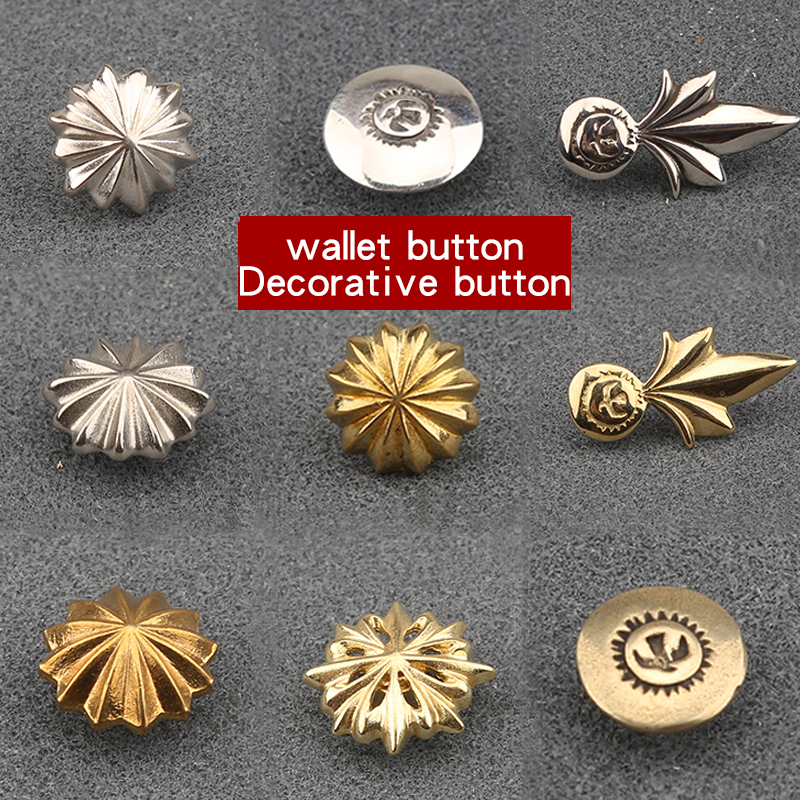 Pure copper cloth buckle decoration buckle new fashion pumpkin pattern chrysanthemum decoration nail cloth buckle leather access