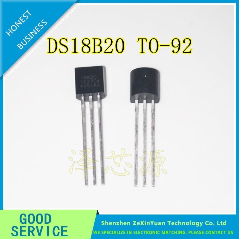 10pcs/lot Sensor Electronic Chip DS18B20 TO-92 18B20 Chips Temperature Sensor IC 18b20 Diy Electronic