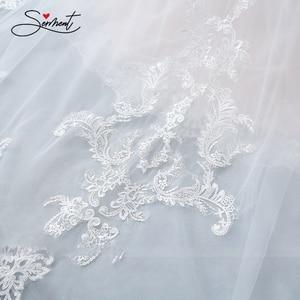 Image 5 - BAZIIINGAAA Hochzeit Kleid Ärmelloses Rundhals Abnehmbare Schwanz Hochzeit Kleid Meerjungfrau Spitze Applique Braut Unterstützung Tailor made