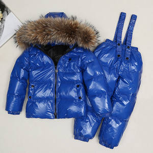 Snow-Suits Teenage-Clothes Boys Children Clothing-Sets Hoodie Overalls Jacket Girl-Set