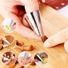 4pcs Finger Guard Protect Finger Hand Cut Hand Protector Knife Cut Finger Protection Tool Stainless Steel Kitchen Tools
