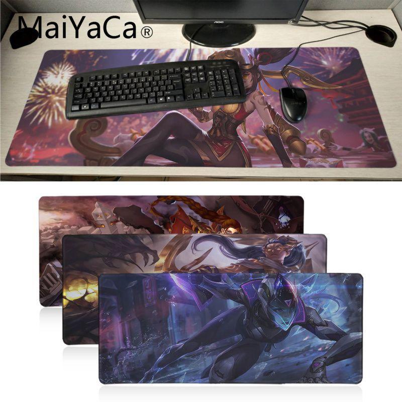 Maiyaca Vayne League Of Legends Office Mice Gamer Gaming Mousepads Table Keyboard Anime Mouse Pad Gamer Speed Version Desk Mat