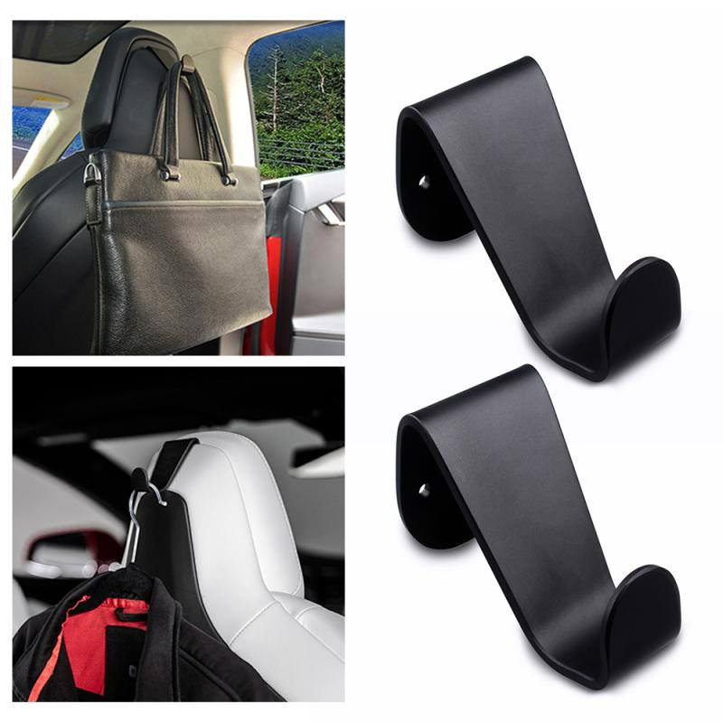 Styling Car Seat Headrest Car Hook Hanger Clothes Purse Bag Holder Organizer Clip Interior Accessories For Tesla Model S Model X