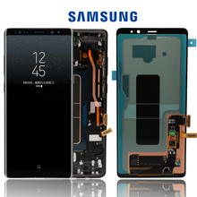 "Neue 6.3 ""Original AMOLED LCD Display Für SAMSUNG Galaxy NOTE8 LCD N9500 N9500F LCD Display Touch Screen Ersatz Teile + rahmen"