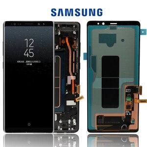 """Image 1 - Nieuwe 6.3 """"Originele Amoled Lcd Display Voor Samsung Galaxy NOTE8 Lcd N9500 N9500F Lcd Touch Screen Vervangende Onderdelen + Frame"""