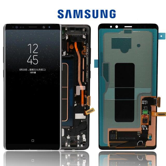 """Nieuwe 6.3 """"Originele Amoled Lcd Display Voor Samsung Galaxy NOTE8 Lcd N9500 N9500F Lcd Touch Screen Vervangende Onderdelen + Frame"""