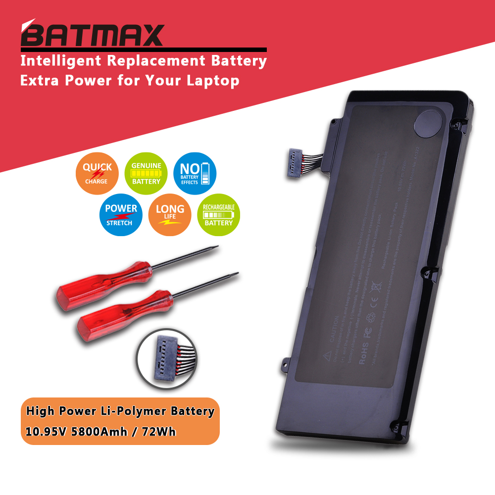 "Batmax A1322 A1278 Laptop Battery for Apple A1322 Apple MacBook Pro 13"" 2009 2010 2011 MB991LL/A MB990LL/A MB990J/A MC700 MC724"