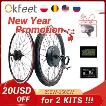 2020 kit de conversão ebike 48v 1500w 1000w 750w 36v 500w dianteiro traseiro e-bike e bicicleta cubo da roda do motor kit de conversão de bicicleta elétrica