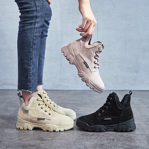 Image 5 - 2020 chính hãng Ủng Da Cá Nữ Thời Trang Giày Sneakers Nữ Phẳng Nền Tảng Giày Boot Nữ Bootties Thu Giày