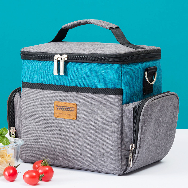 Large Capacity Lunch Cooler Bag Insulation Folding Picnic Portable Thermal Beer Cooler Ice Pack Food Thermal Bag Fresh Keeping